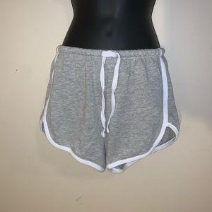 Grayson Threads Sleepwear Grey White Shorts